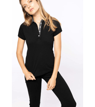 POLO JERSEY BICOLOR K261 MUJER