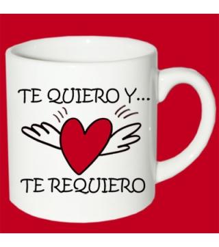 Taza Te quiero y te requiero