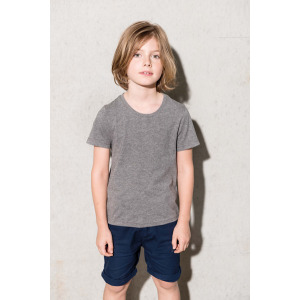 Camisetas algodón orgánico Manga Corta Cuello Redondo para Niños K377